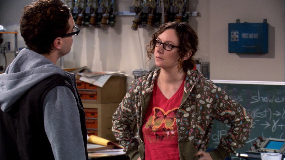 Leonard Hofstadter e Leslie Winkle in The Big Bang Theory.